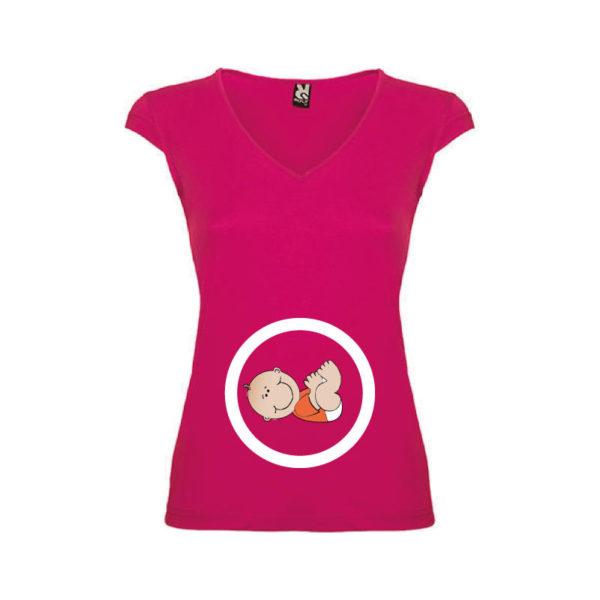T-shirt-Pregnant-Boy-Rosa-Orchidea-Donna