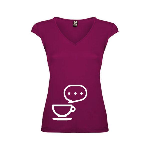 T-shirt-Caffe-Big-Malva-Scuro-Donna