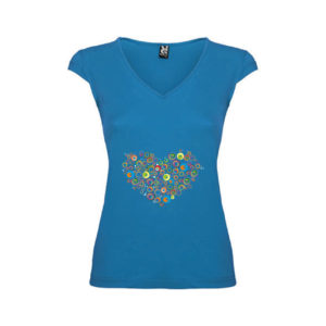 T-shirt-Cuore-Big-Blu-Oceano-Donna
