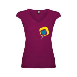 T-shirt-Cuore-Lato-Malva-Scuro-Donna